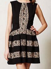 Eva Franco Laced Strata Dress Size 2, 4 Black Motif NW ANTHROPOLOGIE Tag