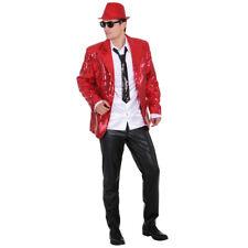 Paillettenjacke Herren rot Show Jacket Jacke Showtime Glitzerjacke Showmaster