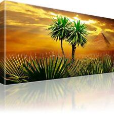 Afrika Palmen Vogel Ägypten Pyramide Kunstdruck Bild