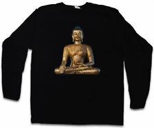 THAI BUDDHA Vintage Manica Lunga T-shirt Buddismo therevada Shiva Induismo