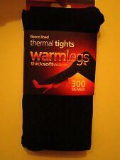 4 X 1 Pack Damas 300 Denier extra Polar Cálido Forrado Térmico Mallas Negro
