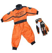 Kinder Wulfsport Wulf MX Quad Motocross Overall Und Handschuhe Orange Set #21