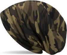 styleBREAKER Beanie Mütze Camouflage Muster, Tarnfleck Slouch Longbeanie, Unisex