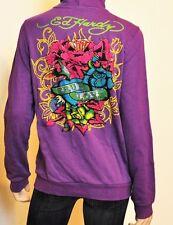 Nwt  ED HARDY Crystal TRUE LOVE Girls Kids Sweatshirt  Hoodie Top ~Purple M (10)