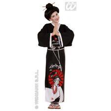 Girls GEISHA Costume for Oriental Japanese Dancer Singer Fancy Dress Outfit