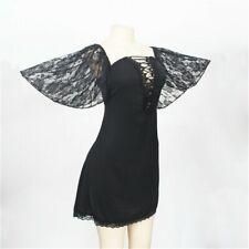 Women Lace Dress Nightdress Plus Size Sleepwear Bodycon Lace Up Gothic Sexy