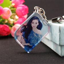 Custom Personalized DIY Photo KeyChain Crystal Charm Keepsake Memorial XMAS Gift