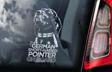 German Shorthaired Pointer - Car Window Sticker - Deutsch Kurzhaar Dog Decal V03