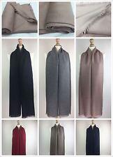 New Women Ladies Plain Scarves High Quality Pashmina Shawl Hijab Wrap