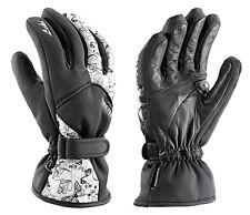 $100 Leki Womens Butterfly Goatskin Leather Trigger Goretex Ski Gloves Ladies
