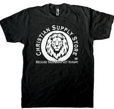 Snarky Atheist, Christian Lion Food Men's T-shirt, Atheism