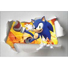 Stickers enfant papier déchiré Sonic réf 7652