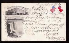 1900 hotel niagara falls patriotic pioneer postcard
