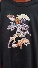 Leopard Gecko T-Shirt Adult sizes. Leo Lizard Reptile FREE POST