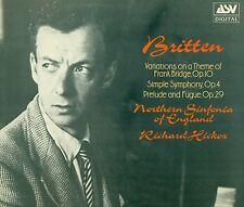 "Britten variations Simple Symphony Prelude & Fugue Richard Hickox 12"" LP (l7627)"