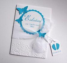 Einladungskarten Einladung Taufe viele Farben T225