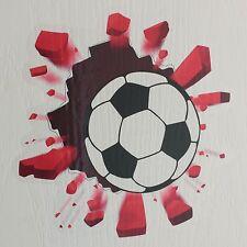 Fútbol Tenis Super Héroe rompiendo a través de la puerta de sala de arte pegatina pared de ladrillo