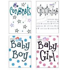 TARJETA FELICITACIÓN CON SOBRE - Bebé Recién Nacido/Bautizo Elegir Diseño