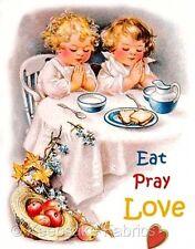 Eat Pray Love Children Fabric Embellishment Multi Sizes