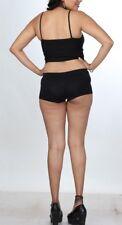 Daring Divas Women's Soft Briefs Ladies Stretch Booty Shorts Girls Black Boxers