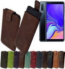 Samsung Galaxy A7 2018 Custodia Cellulare in Vera pelle Protettiva Case Cover
