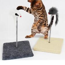 Cat Kitty Sway Toy Kitten Spiral Play Ball Pole Activity Post Scratch Sisal Fun