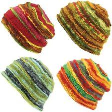 Bonnet laine tricot épais côtelé bonnet Colorant de l'espace hiver chaud Unique
