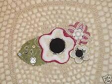 Handmade 3-in-1 felt fabric flower pins/brooch