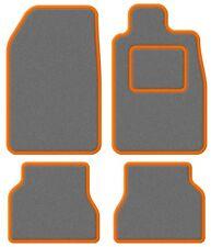 Honda Prelude (4th Gen) 92-96 Super Velour Light Grey/Orange Trim Car mat set