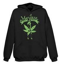 MARY JANE CANNABIS HOODIE - Marijuana Bong Spliff Weed Ganja T-Shirt