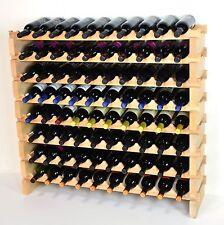 Modular Stackable Wine Rack 40-120 Bottles Capacity Solid Beechwood Racks 10X