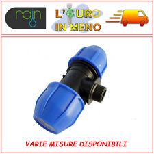 RACCORDO A COMPRESSIONE A TEE MASCHIO PN16 RAIN PER IRRIGAZIONE TUBO POLIETILENE