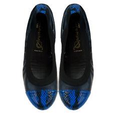 Bailarinas GOLIA AZU Navy Blue Snake Toe Ballerina Flat