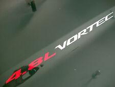 4.8L VORTEC (2) Hood sticker decals emblem Chevy Silverado GMC Sierra Avalanche