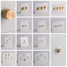 Designer Prises et Interrupteurs-blanc et or