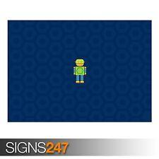 Robot (AD723) Gracioso Poster-FOTOS arte cartel impresión A0 A1 A2 A3 A4