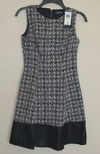NWT Polo Ralph Lauren Women's Two Tone Knit Dress Size 2P 6P 12P 14P Black/White