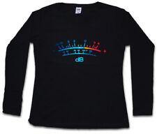 DB Meter II DAMEN LANGARM T-SHIRT Decibel Music Bass Radio Tape Record Vinyl
