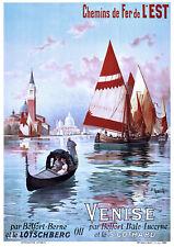 Affiche chemin de fer Est - Venise 2