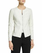 NOORA New Women Genuine Lambskin Leather White Jacket SlimFit Modern Biker QD246