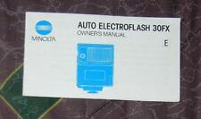 Minolta Electroflash 30FX  instruction manual