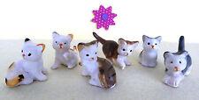 Miniatur Katze Kätzchen spielend Puppenstube Puppenhaus 3cm 6 zur Auswahl 1:12