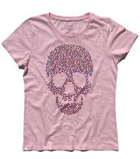 Women's T-Shirt Skull Pixel Skull Graphics Resolution Things from Graphics