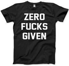 Zero F***s Given - Funny Attitude Grumpy Sassy Swearing Mens Unisex T-Shirt