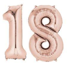 DORÉ ROSE ÂGE 18 ans hélium géant Ballon PLAT CHIFFRES 18th Fête d'anniversaire