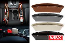 Car Auto Seat Pocket Console Gap Filler Storage Organizer Box PU Leather 2pcs