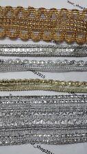 1 Yd (environ 0.91 m) Magnifique Brodé Motif Dentelle Trim Ribbon Net Robe de mariée Sequ