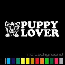 Puppy Lover Sticker Vinyl Decal - Dog Pet Cute Animal Car Window Wall Bumper