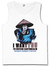 I Want You Raiden Tank Top Earthrealm Liu Kang mortal Mk nerd Kombat Fun