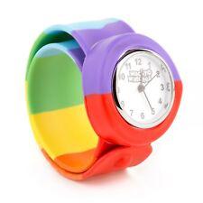 Gay Pride Wacky Watches SNAP ON SLAP WATCH rainbow LGBT